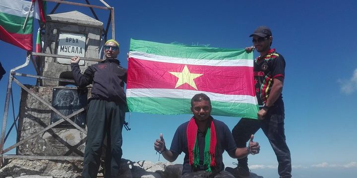 On the top of Musala peak 2925 m a.s.l.
