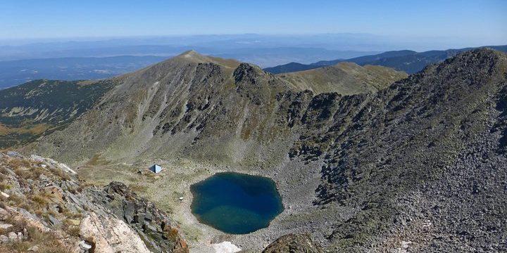 Ice lake m top of Musala peak